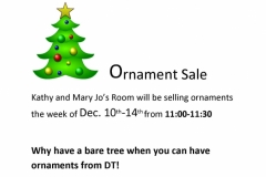 Ornament Sale